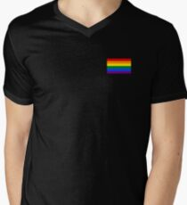 Gay Pride Flag - Minimalist T-Shirt Men's V-Neck T-Shirt