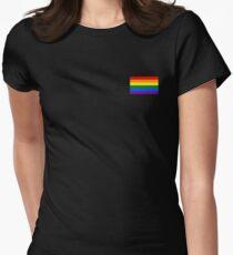 Gay Pride Flag - Minimalist T-Shirt Women's Fitted T-Shirt