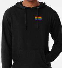 Gay Pride Flagge - minimalistisches T-Shirt Leichter Hoodie