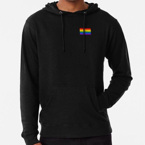 Gay Pride Flag - Minimalist T-Shirt Lightweight Hoodie