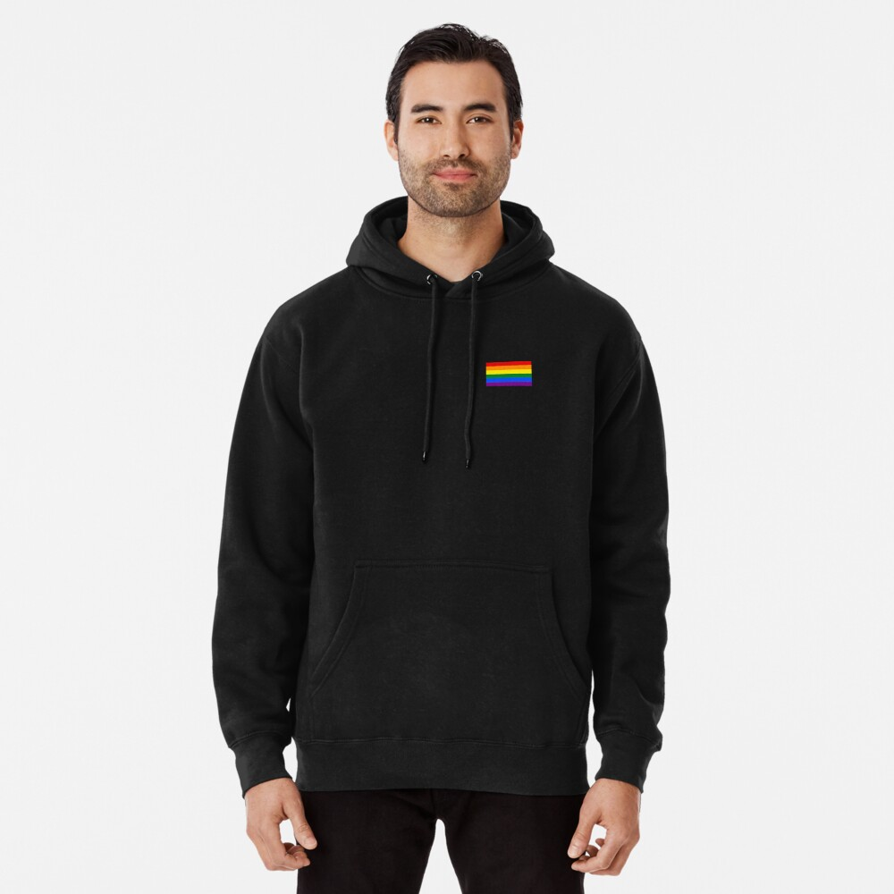 Gay Pride Flagge - minimalistisches T-Shirt Hoodie