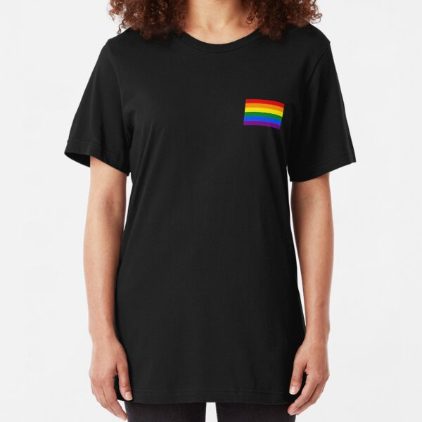 Gay Pride Flag - Minimalistisches T-Shirt Slim Fit T-Shirt