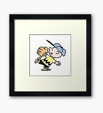 Charlie Brown Baseball Framed Print
