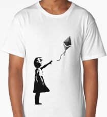 Ethereum Balloon Girl - Banksy Loves Bitcoin Series (the ORIGINAL design) Long T-Shirt