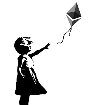 Ethereum Balloon Girl - Banksy Loves Bitcoin Series (the ORIGINAL design) by Gomatthew