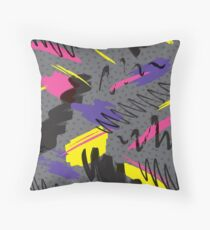 Trendy 80s Throw Pillow