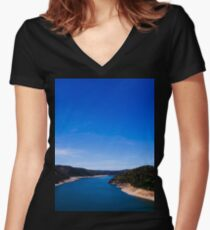 The River Women's Fitted V-Neck T-Shirt