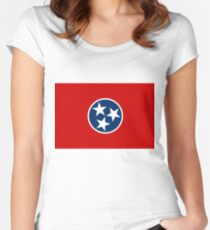 Flag of Tennessee Women's Fitted Scoop T-Shirt