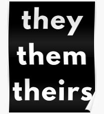 They, Them, Theirs Personal Pronouns Poster