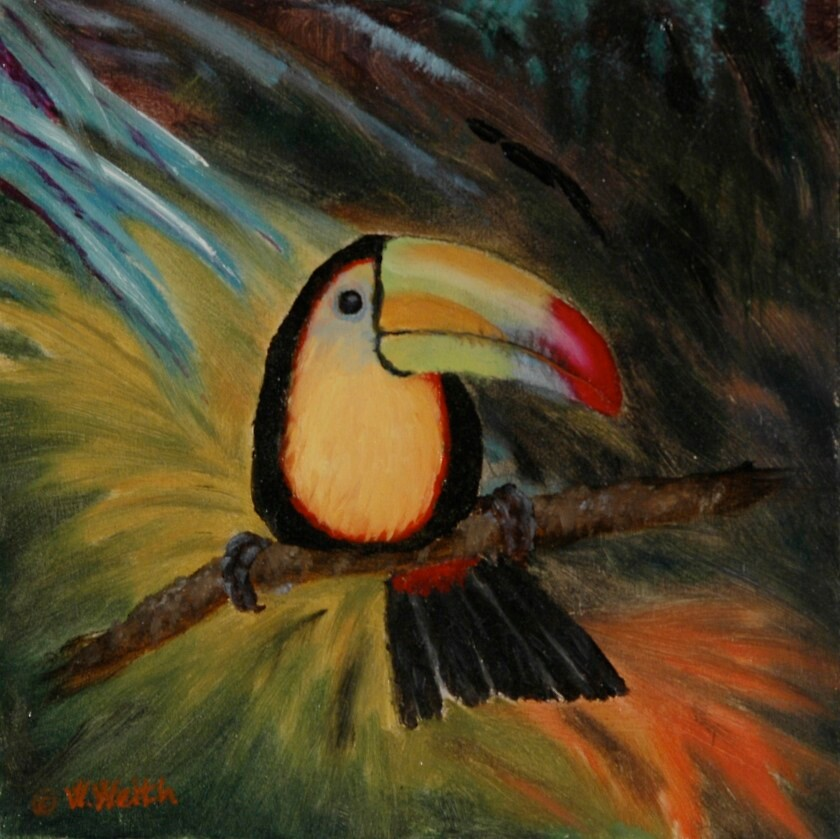 Tropical Toucan by artistinthewild