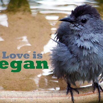 Love is Vegan - baby bird by VeganBear
