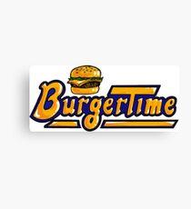 BurgerTime Arcade Logo Canvas Print