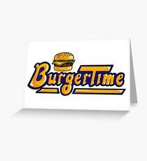BurgerTime Arcade Logo Greeting Card