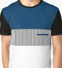 ColorBlocked Stripes Graphic T-Shirt