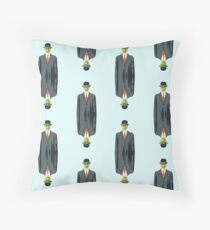 "after Rene Magritte pattern ""son of man"" Throw Pillow"