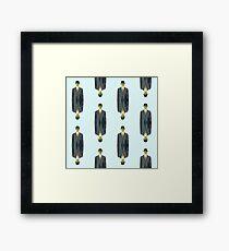 """after Rene Magritte pattern """"son of man"""" Framed Print"""