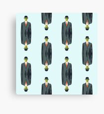"""after Rene Magritte pattern """"son of man"""" Canvas Print"""