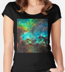 Green Nebula Women's Fitted Scoop T-Shirt