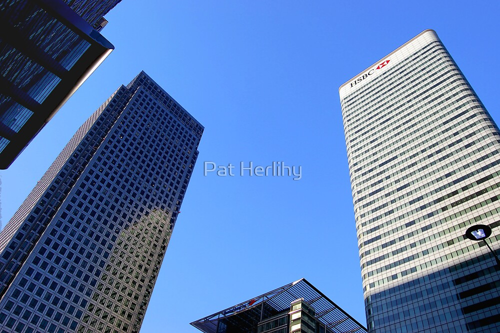 Canary Wharf, London by Pat Herlihy