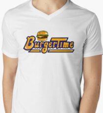 BurgerTime Arcade Logo Men's V-Neck T-Shirt