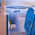 ...an open door to the Med in Santorini by John44