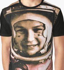 Valentina Tereshkova CCCP 2 Graphic T-Shirt