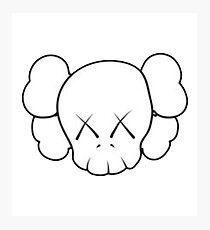 Kaws Logo -Sticker Photographic Print