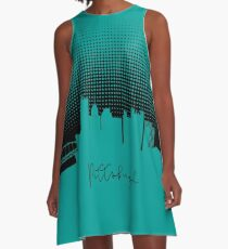 Pittsburgh raster silhouette A-Line Dress