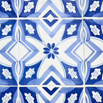 Blue Portuguese Tiles Azulejos by samby