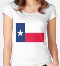 Flag of Texas Women's Fitted Scoop T-Shirt