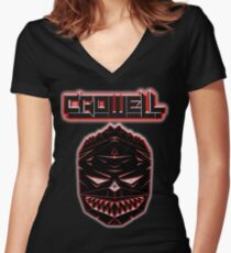 Crowell Dubstep  Women's Fitted V-Neck T-Shirt