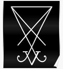 Sigil von Luzifer / Siegel des Satans Poster