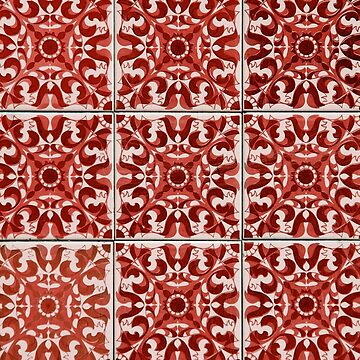 Red Portuguese Tiles Azulejos by samby