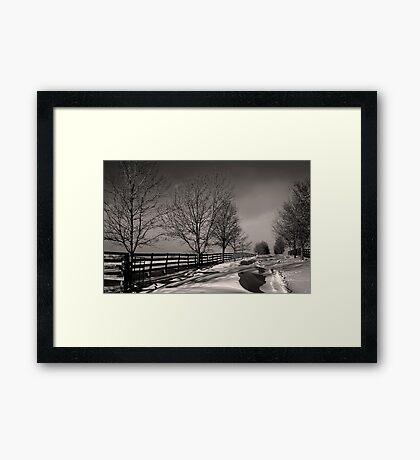 Winter Paddocks Framed Print