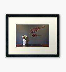 Christmas Themed Ikebana Flower Arrangement Photo Framed Print