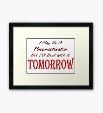 Funny Ironic Quote Framed Print