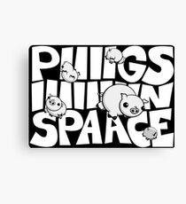 Pigs in Space Illustration Canvas Print