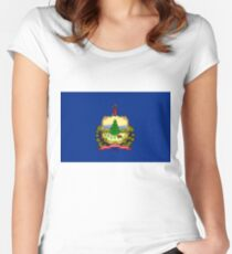 Flag of Vermont Women's Fitted Scoop T-Shirt