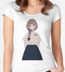 kawai anime Women's Fitted Scoop T-Shirt