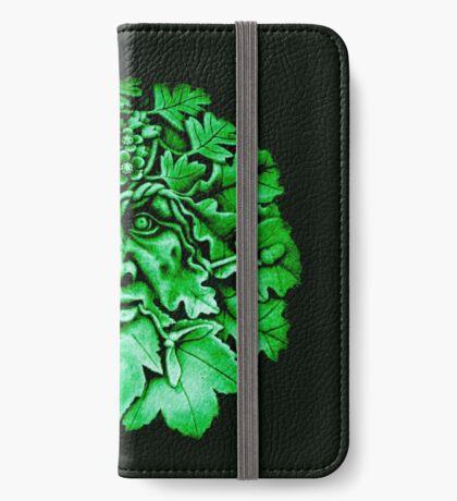 Grüner Mann iPhone Flip-Case