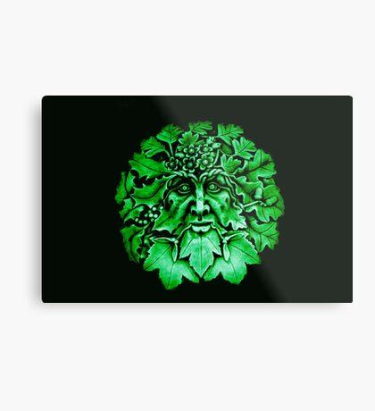 Grüner Mann Metalldruck