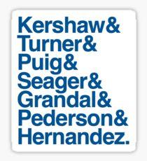 Dodgers 2017 Sticker
