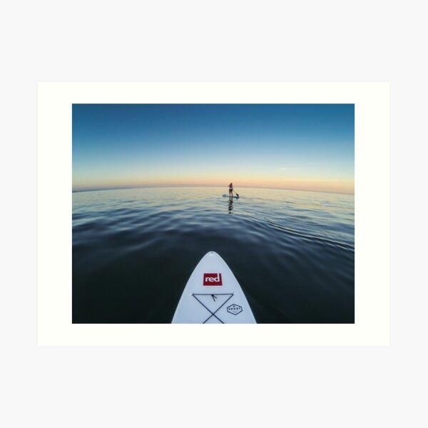 Sunset Paddle boarding  Art Print