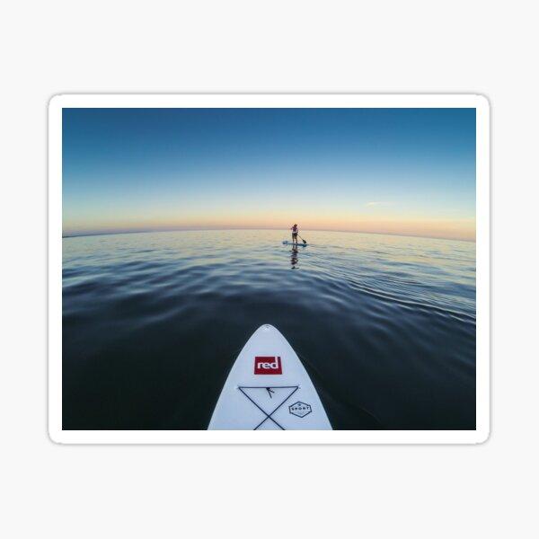 Sunset Paddle boarding  Sticker