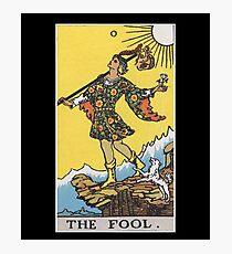 Vintage Tarot Card #0 The Fool Photographic Print