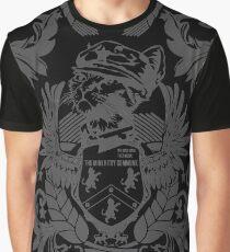The Mini Kitty Commune Crest - Grey Graphic T-Shirt