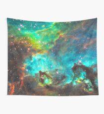 Green Nebula Wall Tapestry