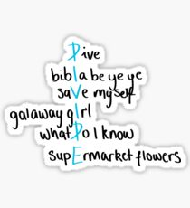 Divide Ed Sheeran Songs | Handwritten | Black Sticker