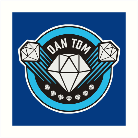 dantdm youtube the diamond minecart art prints by boyless redbubble