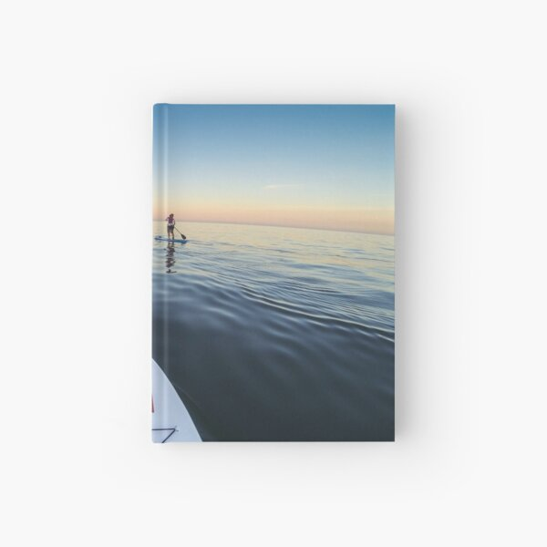 Sunset Paddle boarding  Hardcover Journal
